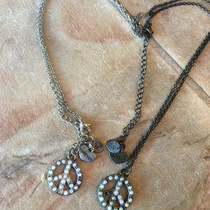 Claire's friends forever peace necklaces
